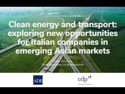 "Webinar CDP e Asia Development Bank: ""Clean energy and trans"