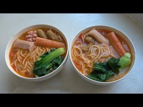阿源在家做米线(Rice Noodle),劲道爽滑,比买的还好吃【农民阿源】