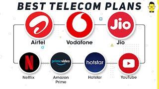 Best prepaid plans on Airtel, Vodafone, & Jio for watching Netflix, Hotstar, & YouTube