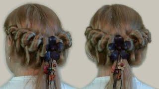 Легкая Прическа на Каждый День Видео Обучение| Easy Hairstyle Every Day (watch the video)(Эта легкая прическа на каждый день не займет много времени утром, если накануне освоить технику плетения..., 2013-04-01T07:36:00.000Z)