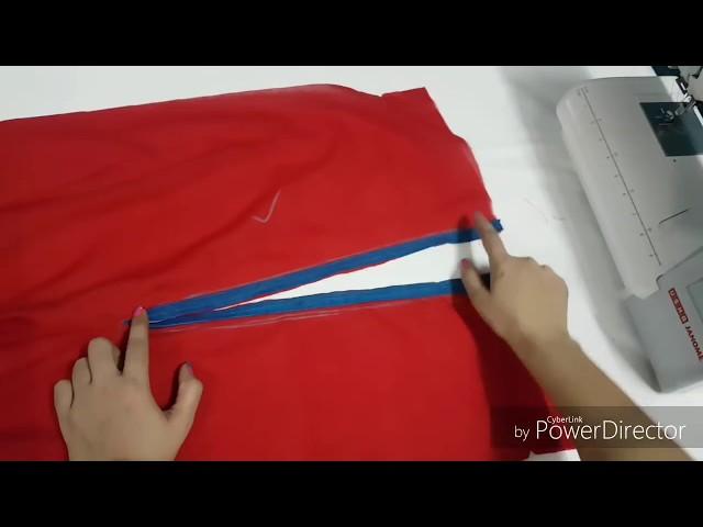 Trendy Plazzo pant bottom design. Very easy way