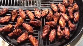 Smoked Hot Wings 2 on the Weber Kettle