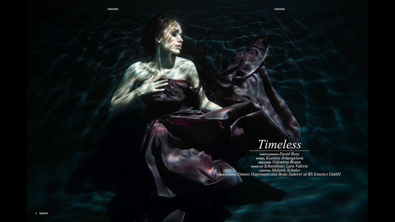 Underwater fashion shooting with Kseniya Arhangelova