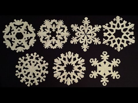 Easy to make paper snowflakes patterns
