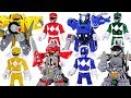Power Rangers Battle Armor transform! Defeat the Meca Godzilla, dinosaurs! #DuDuPopTOY
