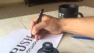 Hand-lettering process - Time-lapse - Push Onward