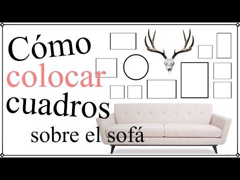 Cómo colocar cuadros en la pared del sofá - 12 formas