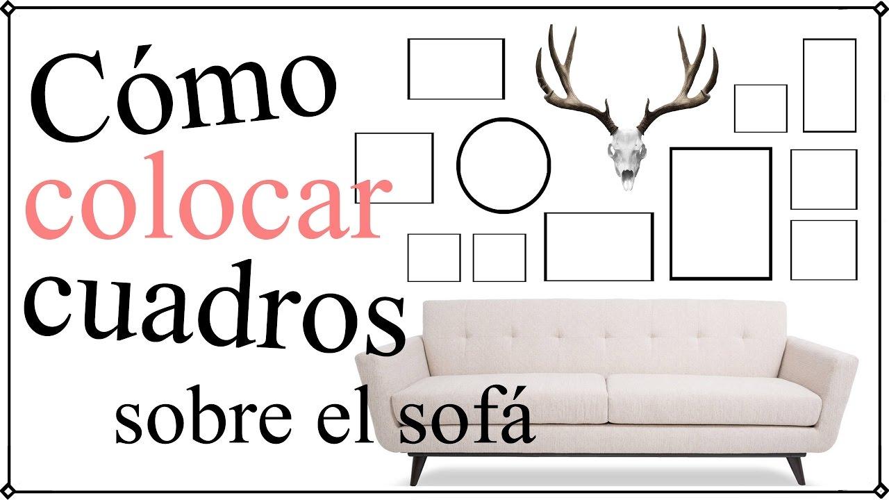C mo colocar cuadros en la pared del sof 12 formas - Como colocar cuadros en un salon ...