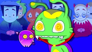 Groovy The Martian & Phoebe - A witch has hypnotised all the kids! Groovy is like a superhero!