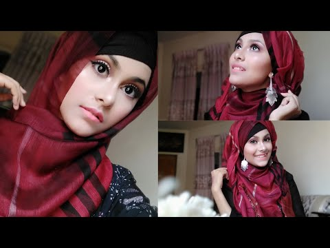 Gorgeous Eid Makeup Tutorial || Hijab Tutorial with earrings for Eid || Noshin Nower ❤