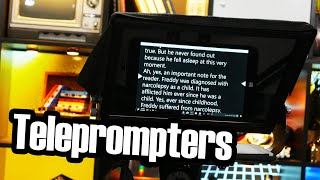Teleprompters are clever, simple, and also pretty neat
