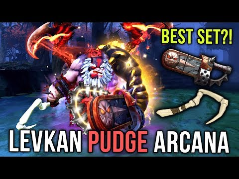 Levkan BEST PUDGE Player?! with ARCANA and BEST SET - Dota 2