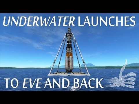 Underwater Launches To Eve's Seabed And Back - KSP Reddit Challenge