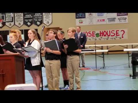 Justus Bollen sings with New Braunfels Christian Academy