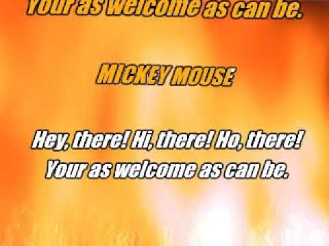 Karaoke instrumental Disney Mickey Mouse march