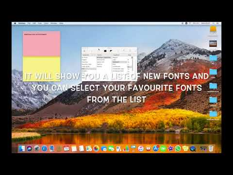 HOW TO CHANGE STICKIES NOTE FONT ON MAC IN HIGH SIERRA