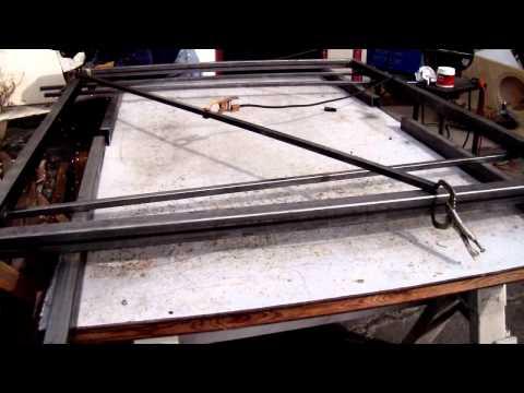 welding of frames for gates