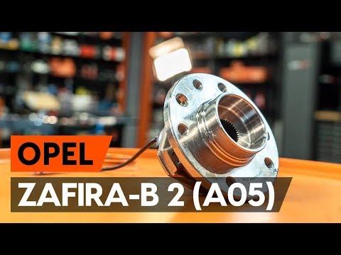 Как заменить передний подшипник ступицы OPEL ZAFIRA-B 2 (A05) [ВИДЕОУРОК AUTODOC]