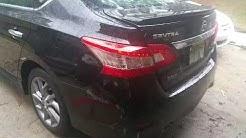 2013 Nissan sentra rear bumper removed