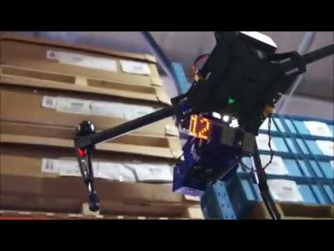 dronescan dji matrice trials in warehouse