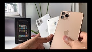 iPhone 11 Pro Max Gold / Pro Silver Unboxing & First Impressions [Vs original iPhone]