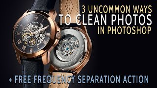 3 Uncommon Ways To Clean In Photoshop + Free Frequency Separation Action