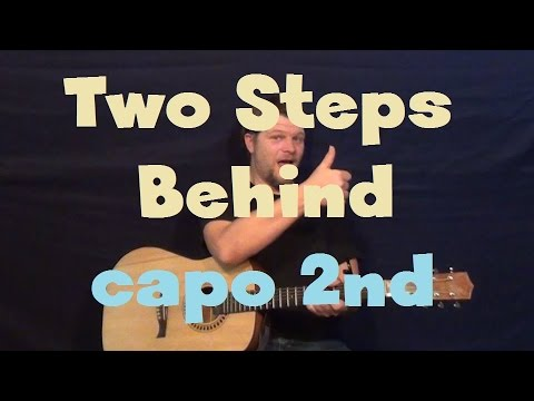 Two Steps Behind (Def Leppard) Easy Guitar Lesson How to Play Tutorial Capo 2nd Fret