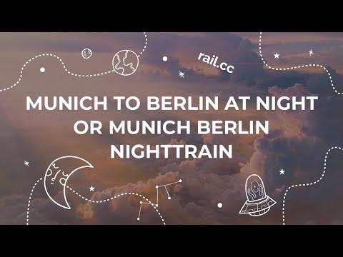 Munich to Berlin by Night Train