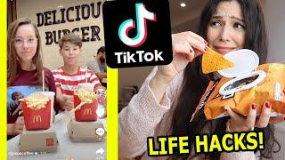 Probamos los FOOD HACKS más VIRALES de TikTok (Life Hacks de COMIDA)