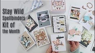 10 Cards \ Spellbinders Stay Wild Card Kit - Видео клуб
