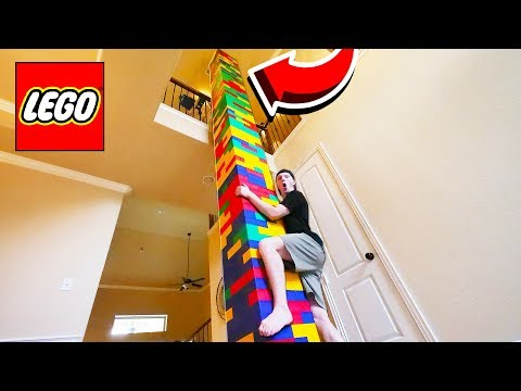 BUILDING WORLD'S TALLEST LEGO TOWER! (50FT+)