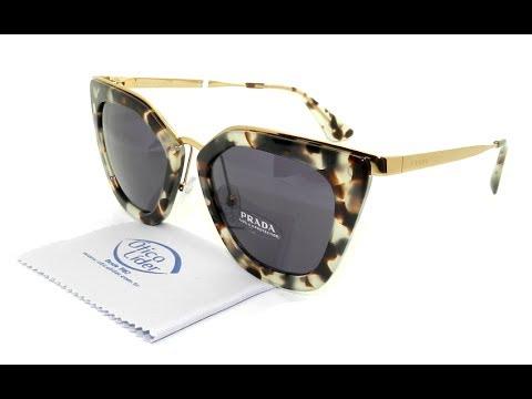 Óculos de Sol Prada Acetato Tartaruga   Metal Dourado 53s uao 6o2 52. Ótica  Líder 2f8c082f17