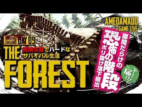 #09【過酷なサバイバル】【PC】あめだま堂のTHE・フォレスト!地獄のサバイバルモード【THE FOREST】