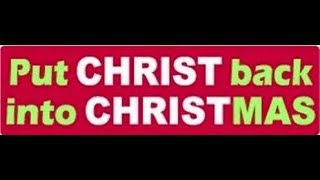 Bumpers Stickers Putting Christ Back in Christmas - Are You Restoring Really?