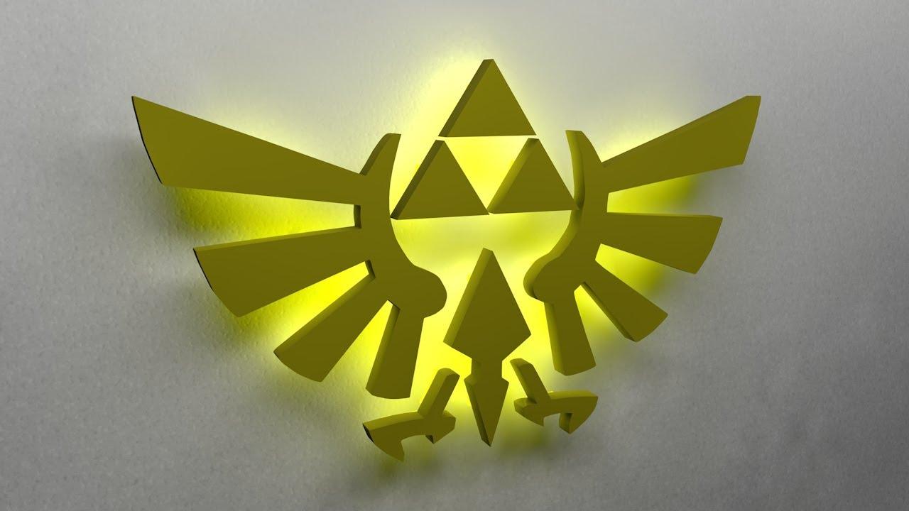 Speedart: Triforce Light   Cinema 4D   The Legend Of Zelda