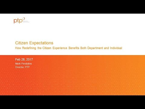 "GTI2017 Sn10a:  Citizen Expectations of "" Self Service"" - PTP"
