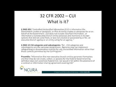 What is Controlled Unclassified Information (CUI)