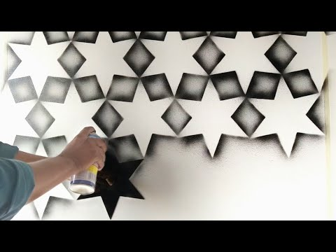 Easy & Creative wall painting spray Art ideas and techniques