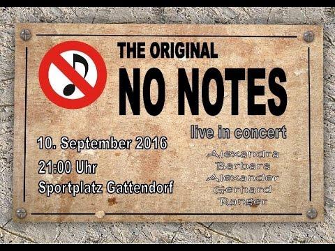 no notes - einladung zum konzert - youtube, Einladung