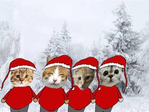 Christmas Cats dancing to Mariah Carey - animation