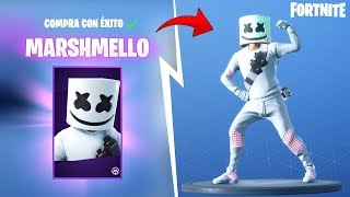 New Marshmello Skin and Dances in the Fortnite Store: battle royale!!