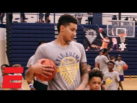 Kyle Kuzma helping Flint, Michigan with free basketball camp for kids | NBA