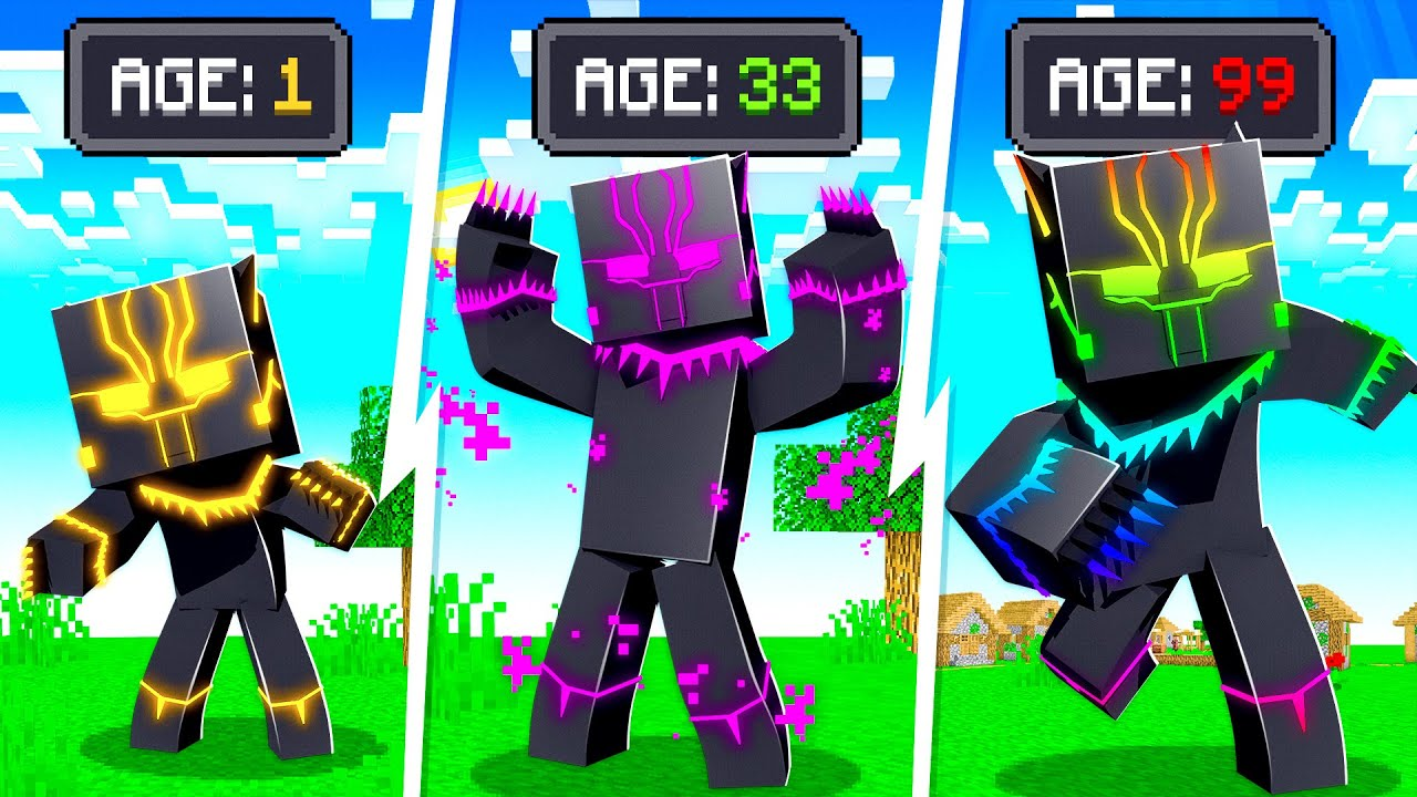 Morphing into BLACK PANTHER in MINECRAFT!