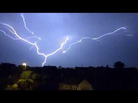 Lightning Strikes Middleton On Sea West Sussex