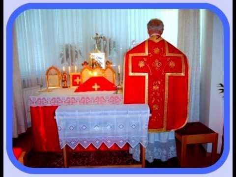 Heilige Tridentinische Opfermesse Nach Pius V. 1570 Kanonisiert