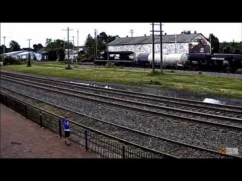 A Wholesome Moment On The North East, PA Cam (Virtual Railfan)