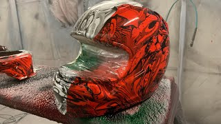 Racing Helmet Custom Italian Graffiti Hydrodip!