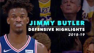 Jimmy Butler Defensive Highlights | 2018-19 | Timberwolves & 76ers