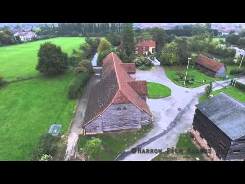 Views Of Headstone Manor Great Barn From The Air