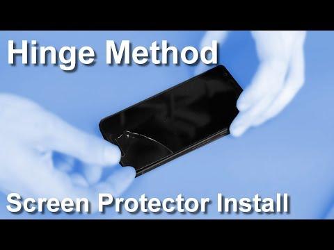 Replacing tempered glass screen protector using Hinge Method.